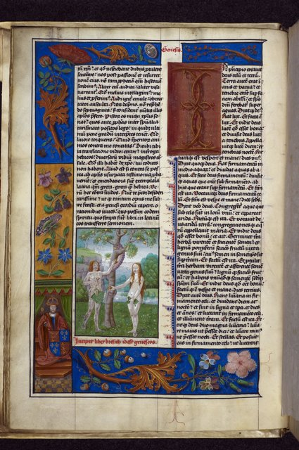 Adam and Eve from BL Royal 1 C V, f. 4v