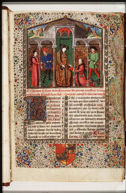 St. Thomas Aquinas' 'Information des Princes' presented to a knight of the Golden Fleece