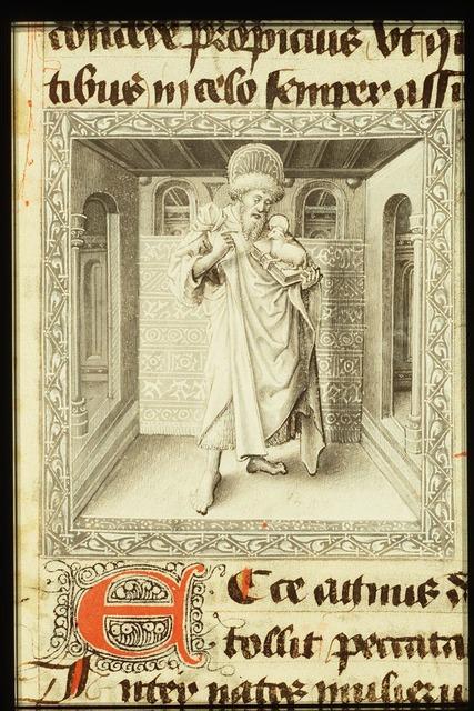 St. John the Baptist holding a book and the Lamb of God (Agnus Dei)