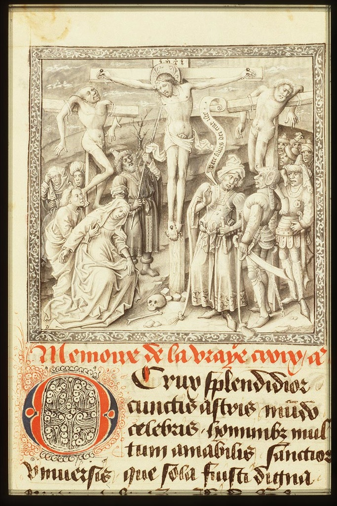 The Crucifixion, with Mary, St. John, St. Mary Magdalene, the two malefactors, Longinus piercing Christ's side with a lance, the confessing centurion and soldiers