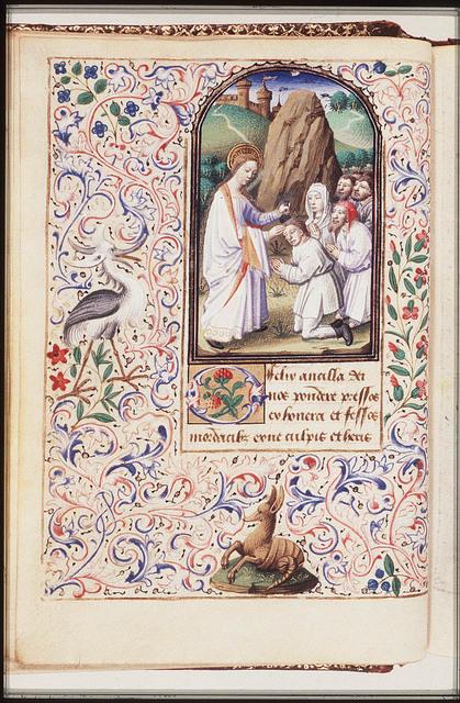 St. Genevieve of Paris anointing the faithful