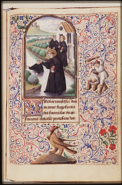 St. Maurus of Glanfeuil, walking on the water, saves St. Placidius from drowning