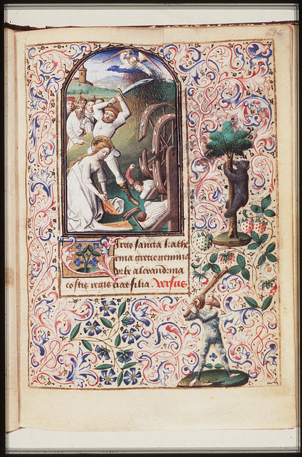 The martyrdom of St. Catherine of Alexandria: she is beheaded