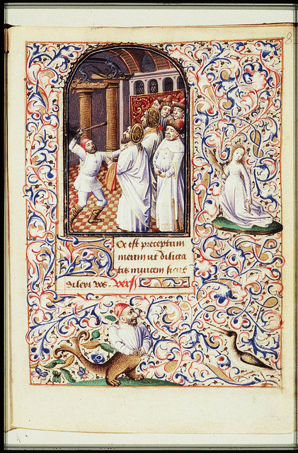 The martyrdom of St. Simon Zelotes and St. Jude Thaddaeus: they are beaten to death