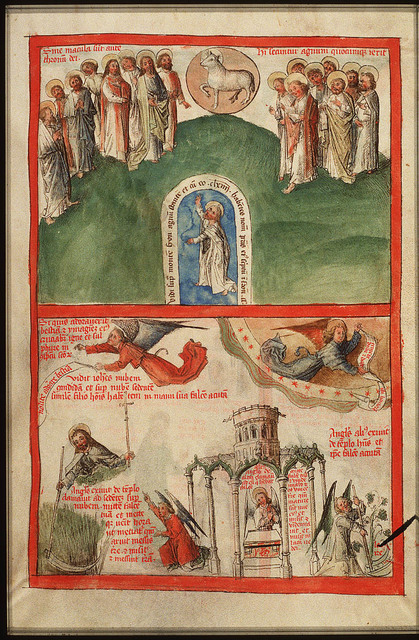 Adoration of the Lamb on Mount Sion by the 144-thousand; St. John the Evangelist (1st of 2)