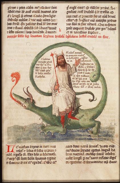 Antichrist sitting on Leviathan