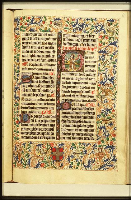 St. John the Baptist holding a cross-staff and the Lamb of God (Agnus Dei)