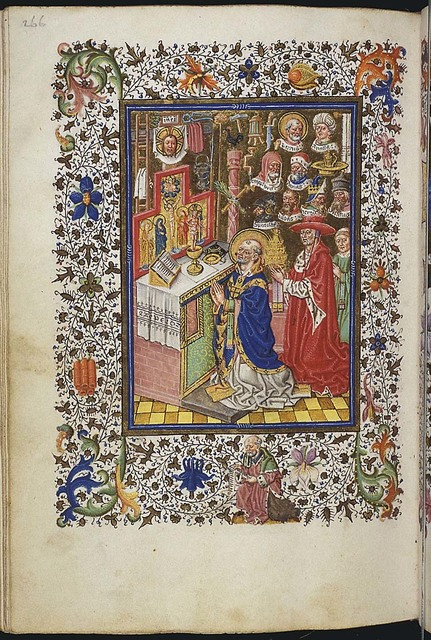 The mass of St. Gregory the Great: Christ appears on the altar