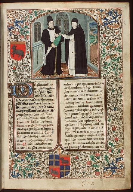 Dedication of the manuscript by Jean Bréhal to Robert le Pèle