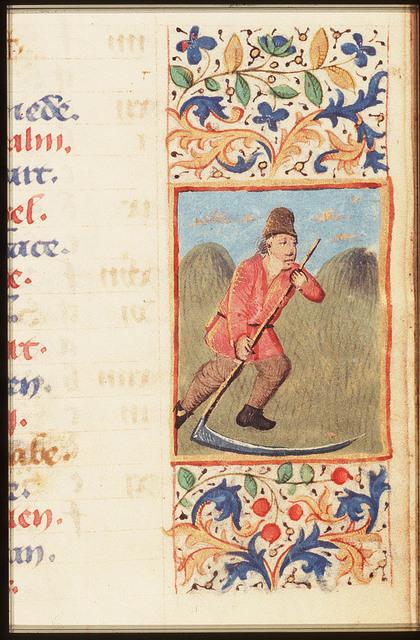 June: a man making hay