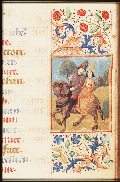 May: a couple on horseback