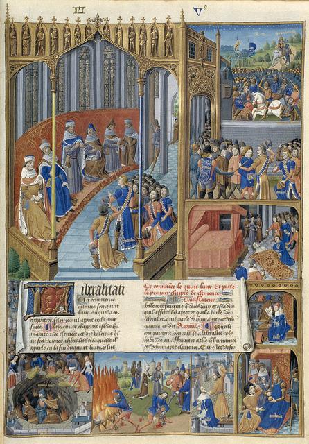 Caius Popilius Laenas asks Mark Anthony to prosecute, search and kill Cicero