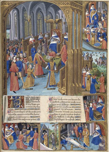 Marcus Porcius Cato (the Elder) delivering judgement on the case of Claudius Centumalus and Calpurnius Lanarius