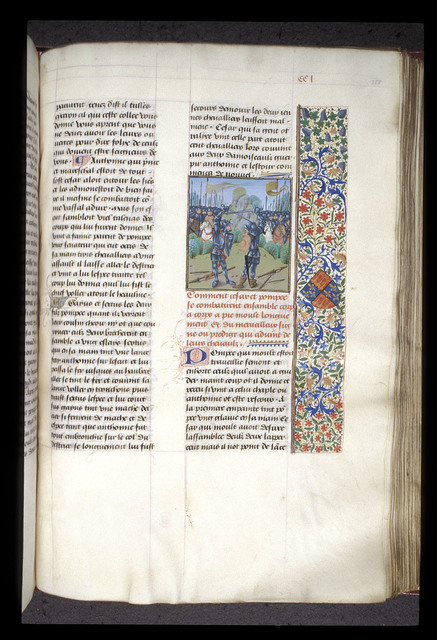 Caesar and Pompey from BL Royal 17 F II, f. 258