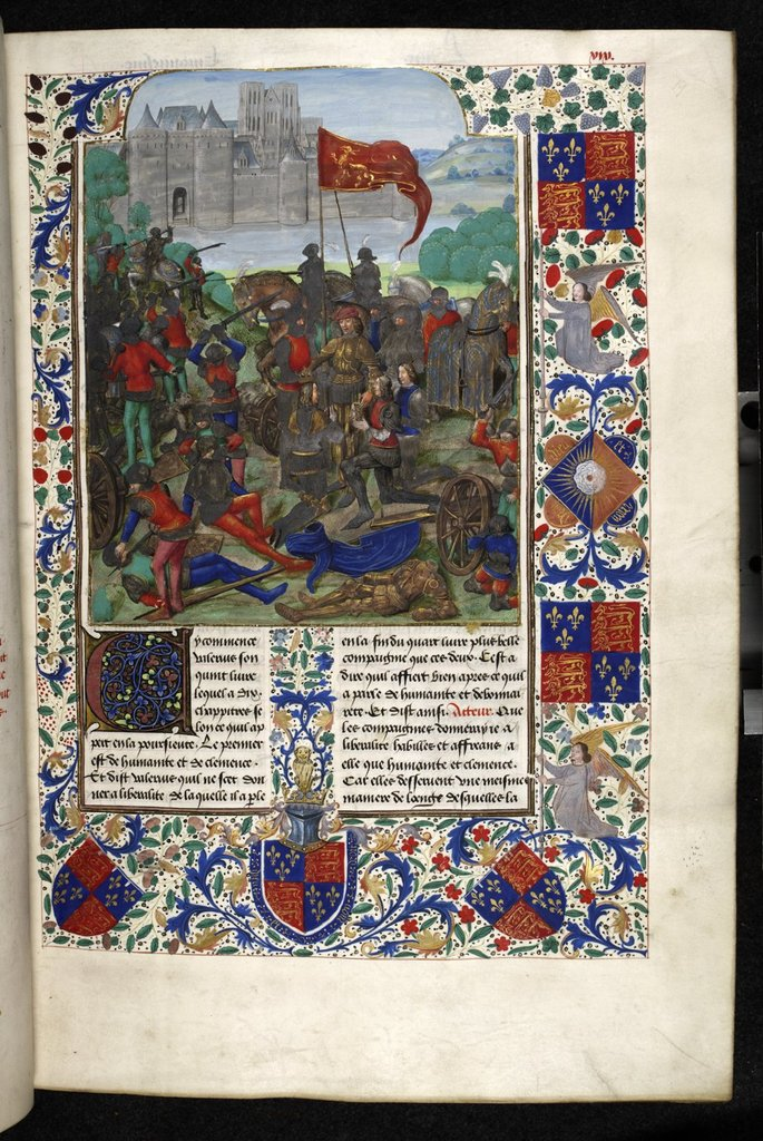 Clemency of a conqueror from BL Royal 18 E IV, f. 19