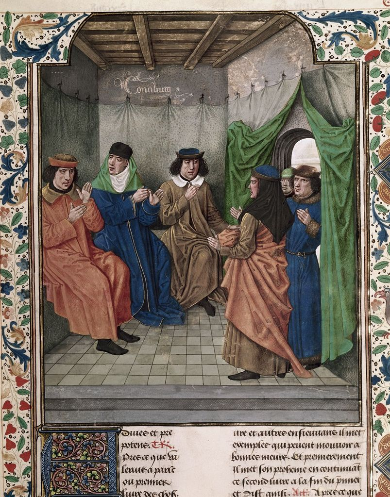 Council from BL Royal 18 E III, f. 133