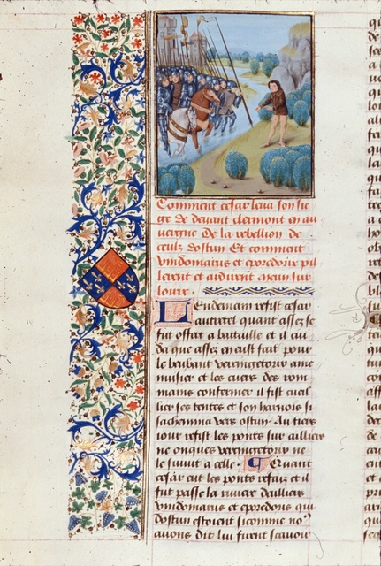 Crossing of Loire from BL Royal 17 F II, f. 133v