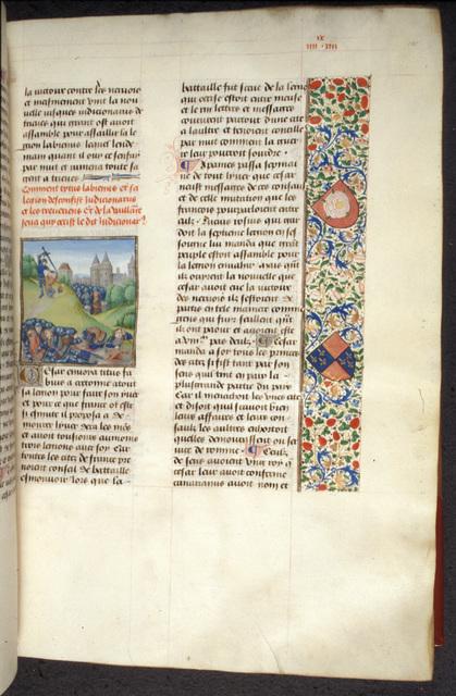 Death of Indutiomarus from BL Royal 17 F II, f. 101