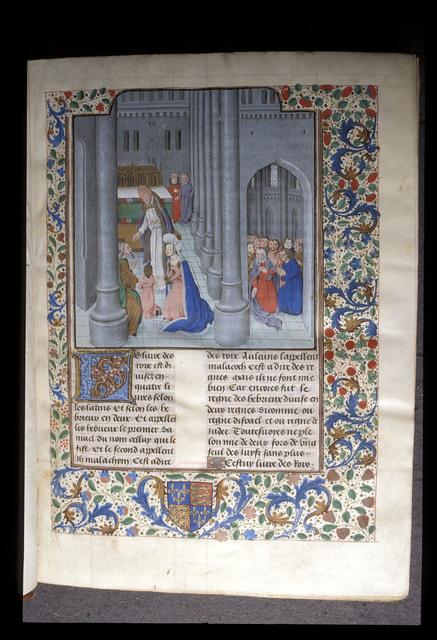 Dedication of Samuel from BL Royal 18 D X, f. 2