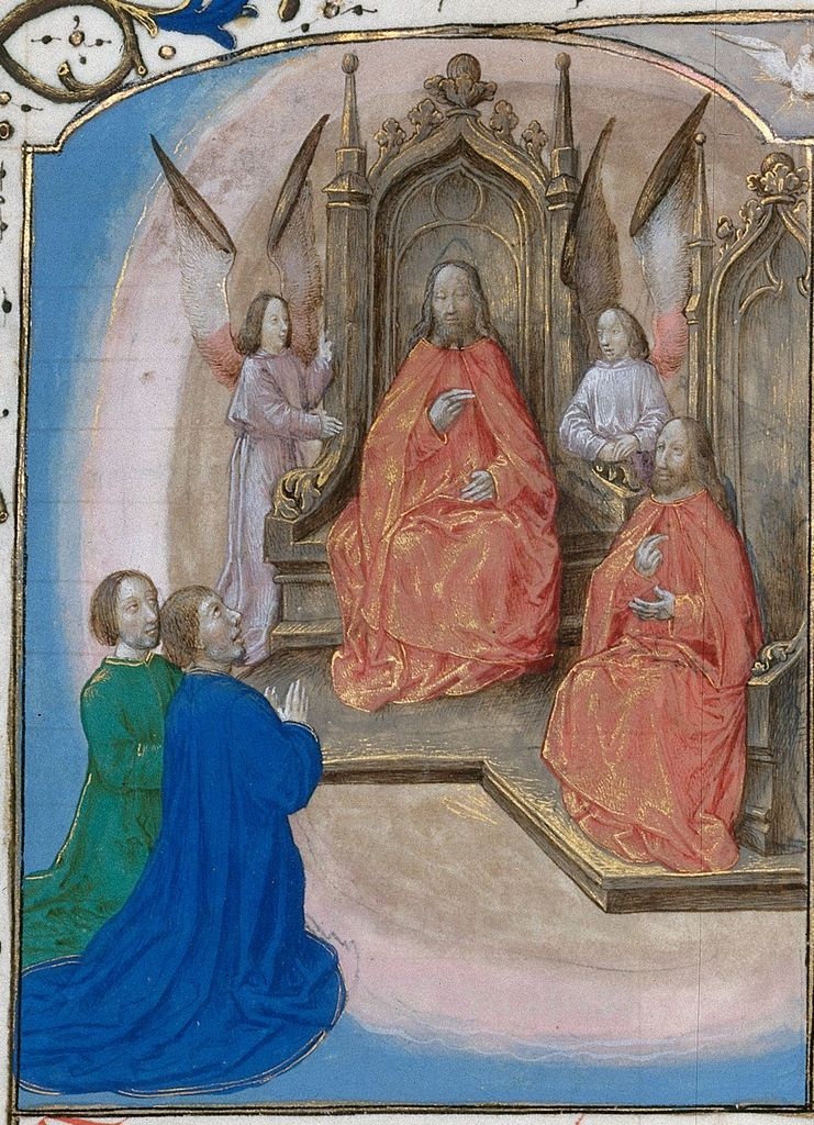 God the Father from BL Royal 16 G III, f. 18v