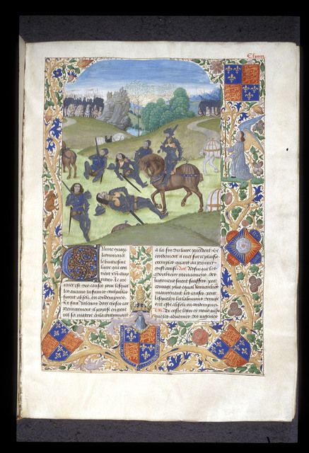 Horatii and Curiatii from BL Royal 18 E IV, f. 163