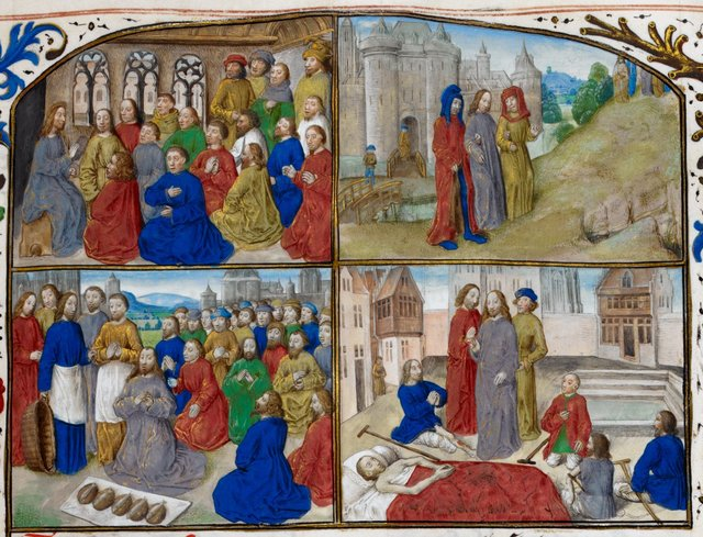 Life of Christ from BL Royal 16 G III, f. 86