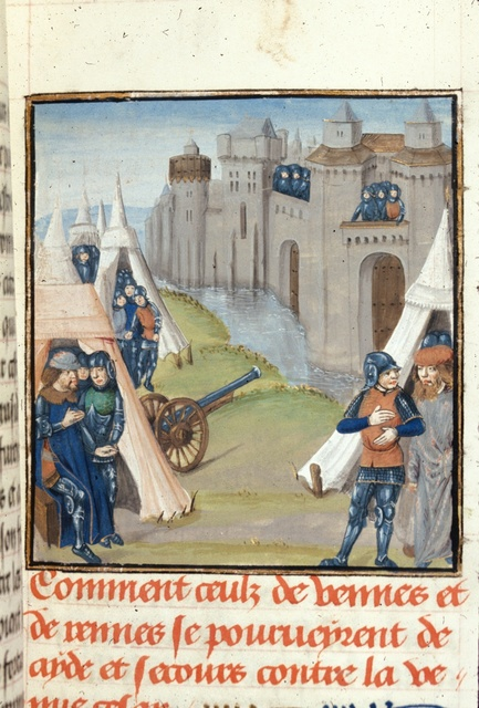 Siege of a Breton city from BL Royal 17 F II, f. 70