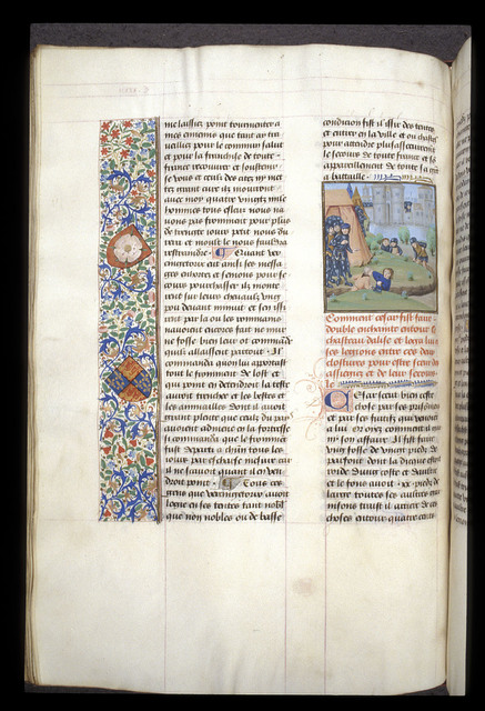 Siege of Alesia from BL Royal 17 F II, f. 140v