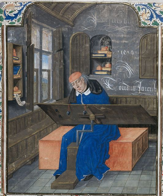 Translator at work from BL Royal 18 E III, f. 24