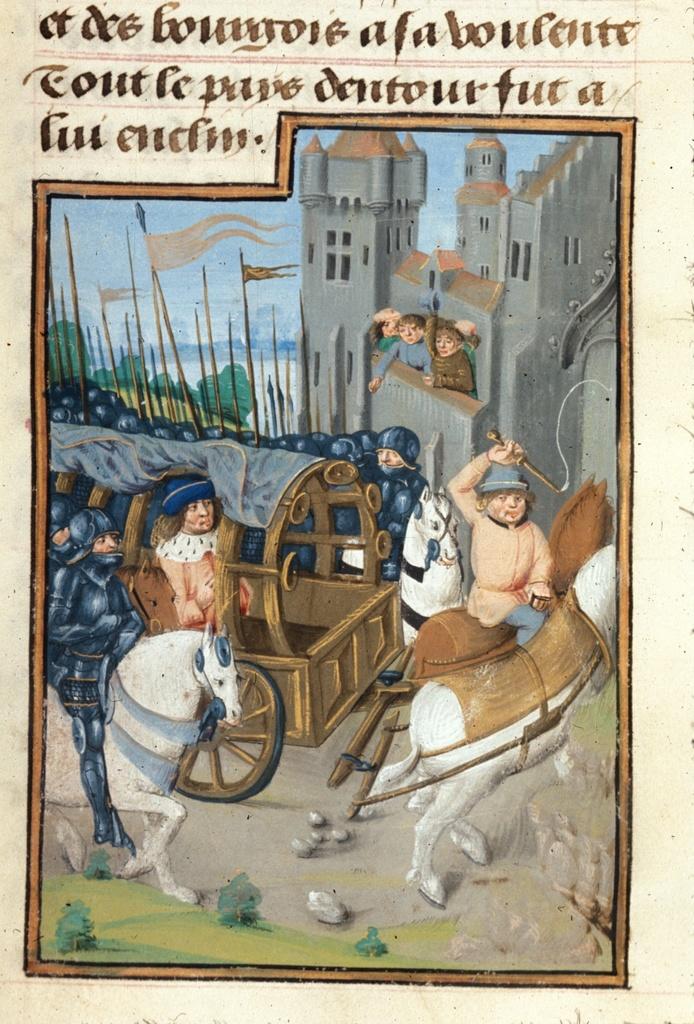 Triumph of Caesar from BL Royal 17 F II, f. 330