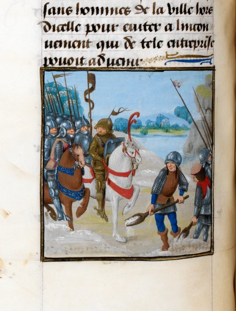 Winter march of Caesar from BL Royal 17 F II, f. 116v