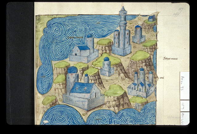 Map from BL Arundel 93, f. 157