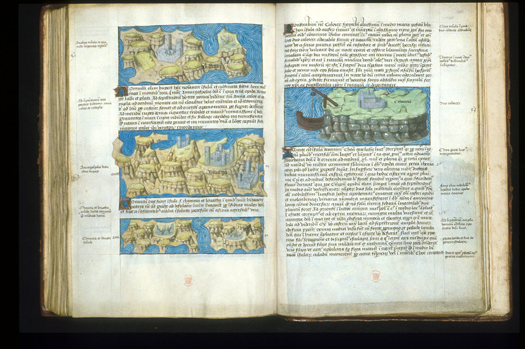 Maps from BL Arundel 93, ff. 145v-146