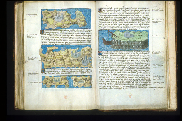 Maps from BL Arundel 93, ff. 145v-146