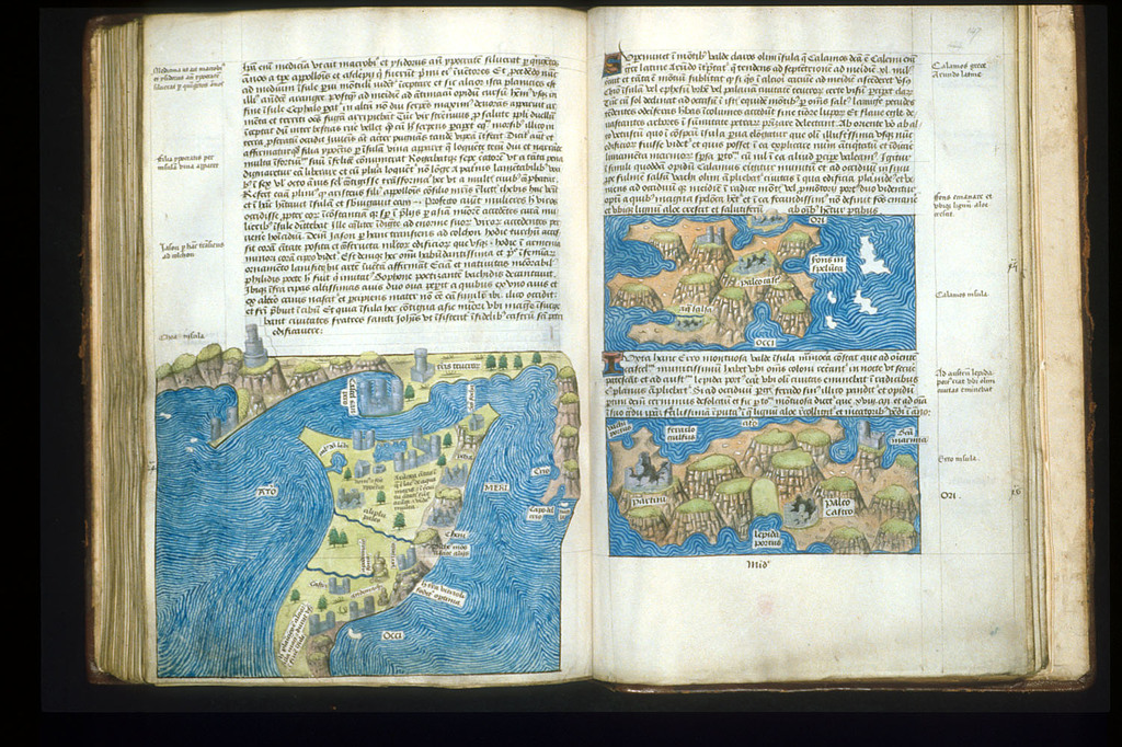 Maps from BL Arundel 93, ff. 146v-147