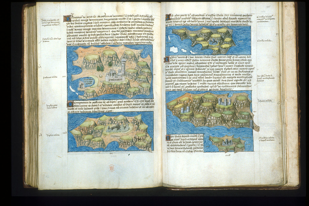 Maps from BL Arundel 93, ff. 147v-148