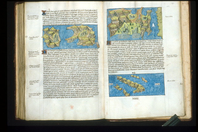 Maps from BL Arundel 93, ff. 148v-149
