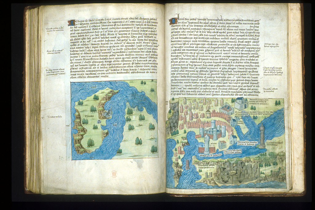Maps from BL Arundel 93, ff. 152v-153