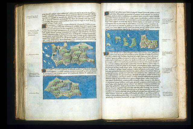 Maps from BL Arundel 93, ff. 155v-156