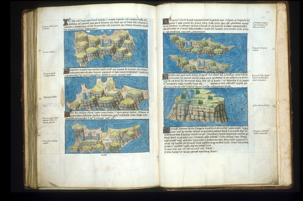 Maps from BL Arundel 93, ff. 157v-158