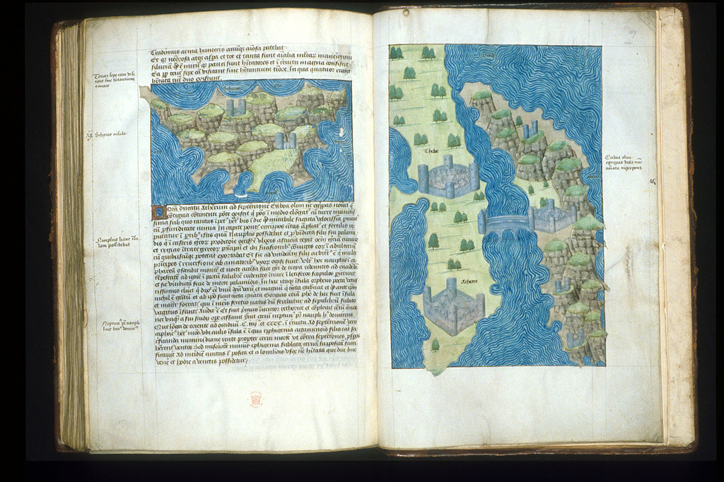 Maps from BL Arundel 93, ff. 158v-159