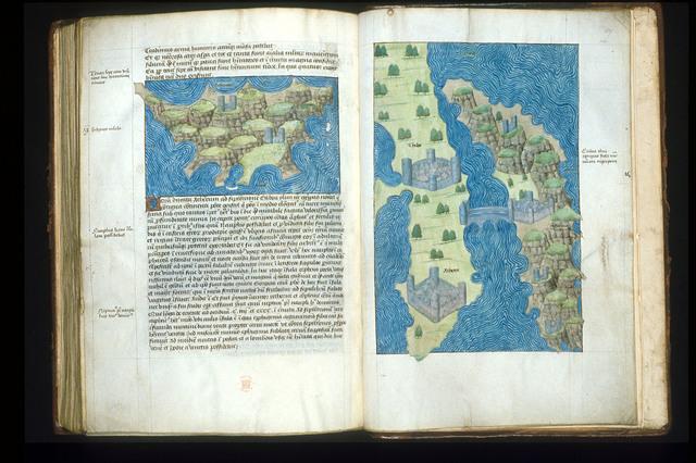 Maps from BL Arundel 93, ff. 158v-159