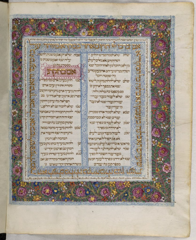 Initial-word panel and full border from BL Or 2626, f. 13v
