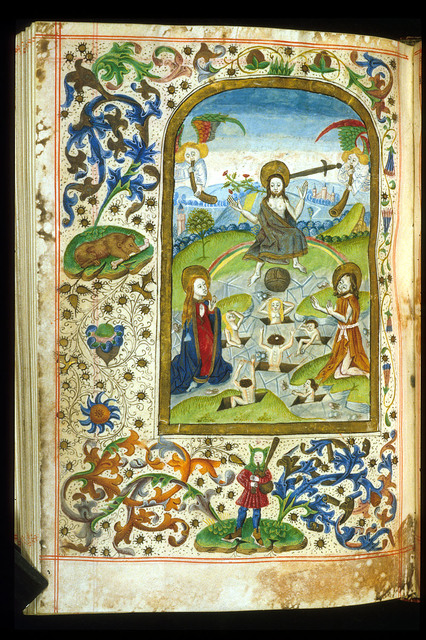 Last Judgement from BL Harley 2943, f. 112v