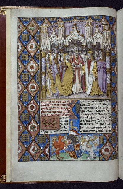 Henry V and Catharine of Valois from BL Royal 20 E VI, f. 9v
