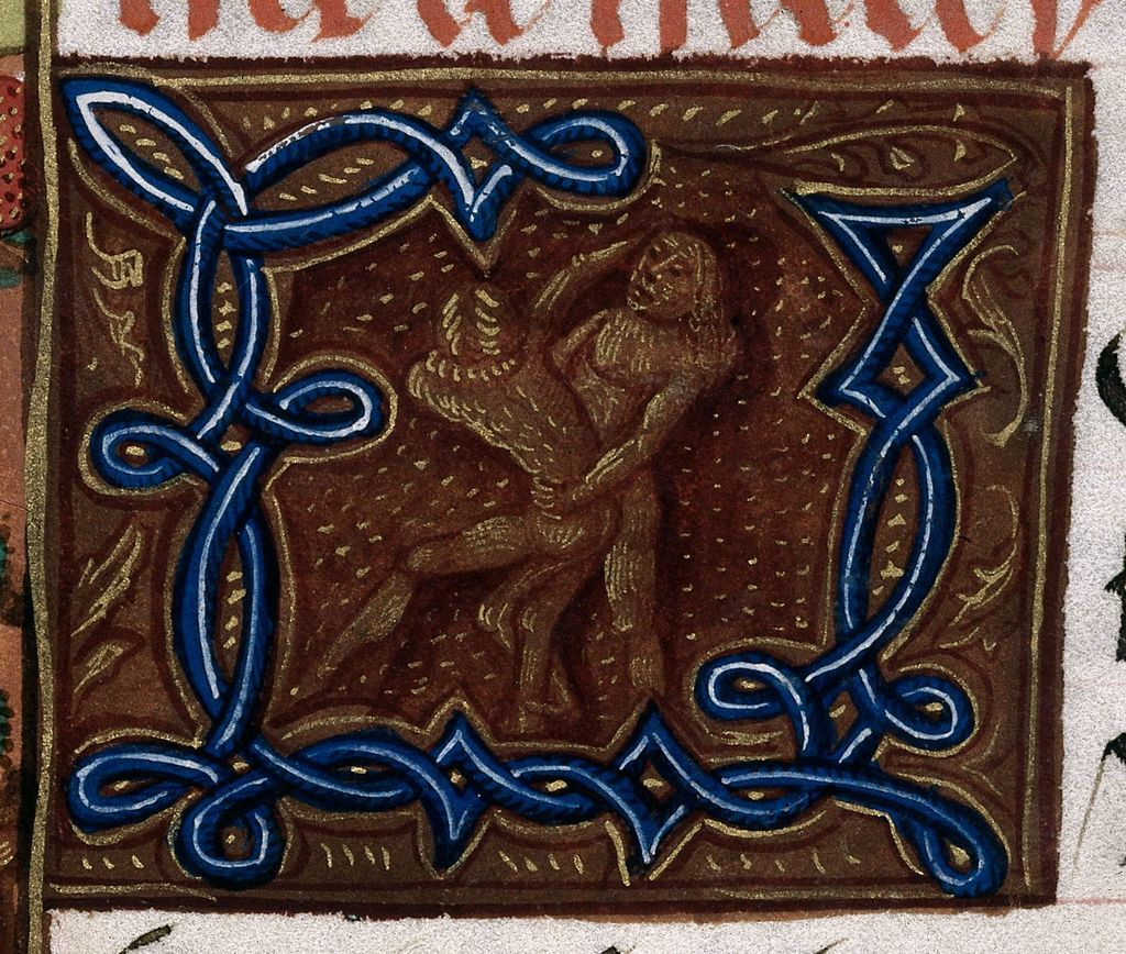 Historiated initial from BL Royal 20 E III, f. 114
