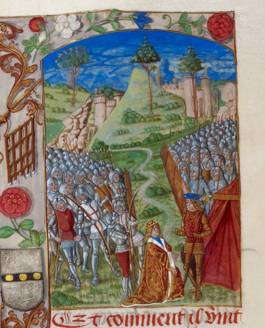 Richard I from BL Royal 20 E III, f. 155