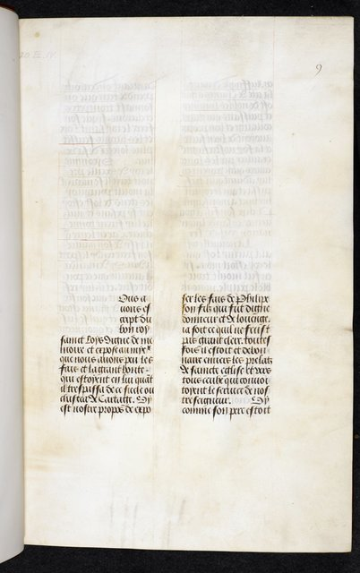 Unfinished miniature from BL Royal 20 E IV, f. 1