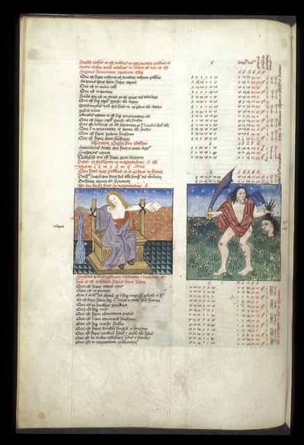 Cassiopeia and Perseus from BL Arundel 66, f. 35v