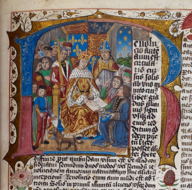 Henry VII from BL Arundel 66, f. 201